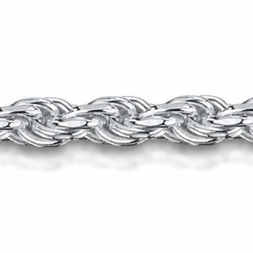Amberta 925 Sterlingsilber Armkette - Kordelkette Armband - 1.5 mm Breite - Verschiedene Längen: 18 19 cm (18cm)