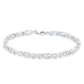 amor Damen-Armband 21cm Infinity Herzen 925 Silber rhodiniert Zirkonia weiß