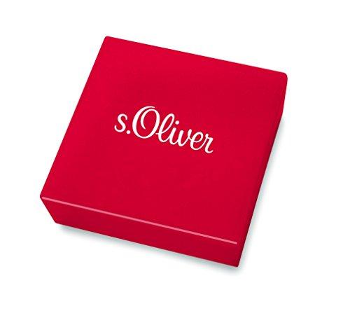 s.Oliver Damen-Armband So Pure 16+3 cm mit Herz-Anhängern 925 Silber rhodiniert Zirkonia weiß