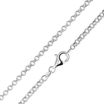 MATERIA Zwillings Ankerkette silber 925 - Halskette Damen Herren 2,3mm Silber Kette in 40 45 50 60 70 80 cm #K31, Länge Halskette:50 cm