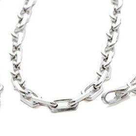 3mm breite sehr robuste Herren Schmuck Kette 925 Silber Ankerkette 925 Halskette 45 50 55 60cm Collier Sterlingsilber Verschlusskarabiners #1200 (50)