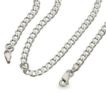 Dicke robuste Männer Herren 4mm Panzerkette diamantiert ,massiv 925 Silber Halskette Collier 45 50 55 60cm #1764 (60cm)