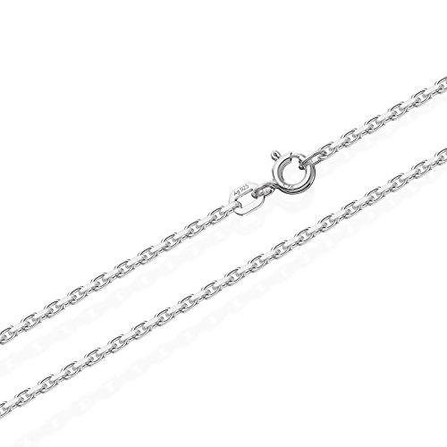 NKlaus 60cm Massive Ankerkette Collier 925 Silberkette Diamantiert 1,6mm 6,1g 3682