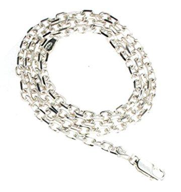 Ankerkette massiv 925 Silber 3,6 mm breit, 70 cm Halskette Silberkette Herren-Kette Anhängerkette Damen Geschenk Schmuck ab Fabrik Italien tendenze