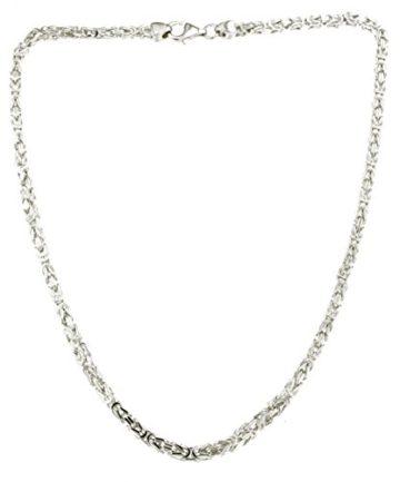 Königskette 925 Silber 3 mm 45 cm Silberkette Halskette Damen Herren Anhängerkette Schmuck ab Fabrik tendenze Italy D-BZ3-45v