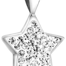 Nenalina Stern Anhänger für Damen Kette oder Halskette mit Swarovski in 925 Sterling Silber 264060-091