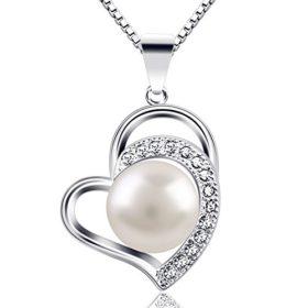 B.Catcher Kette Damen Herz Halskette 925 Sterling Silber Anhänger ''Liebe und Dauerhaft''Schmuck 45CM Kettenlänge Valentinstag Geschenk