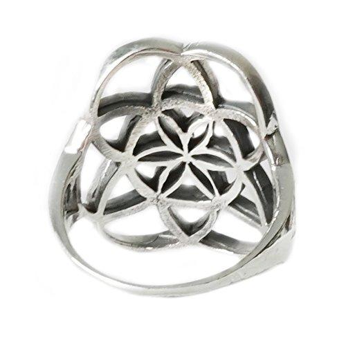 Ring BLUME DES LEBENS 925 Sterling Silber Gr. 56 / 57 / 58 / – Spiritualität - Yoga - Meditation - Astrologie - Esoterik - Symbol - Schmuck - Religion - heilige Geometrie