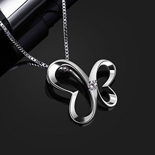 B.Catcher Kette Damen Halskette Anhänger 925 Silber ''Schmetterling Traum'' Schmuck 45CM Kettenlänge Valentinstag Geschenk