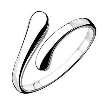 Lieberpaar Damen Mode 925 Sterling Silber Einfache Öffnen Verstellbare Ringe Als Valentinstag Geschenk (YWYJ008)