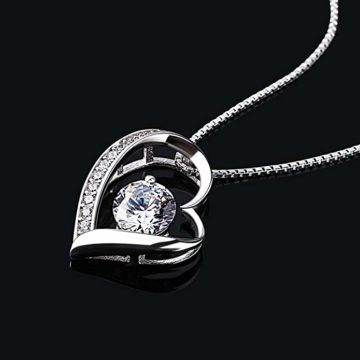Damen Halskette mit Herz Anhänger