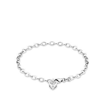 amor Damen-Armband 19cm mit Herz-Anhänger 925er Silber Zirkonia weiß
