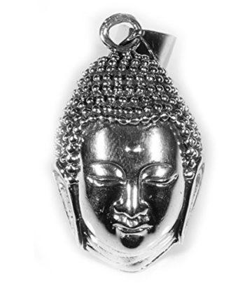 ANHÄNGER BUDDHA KOPF groß 925 Sterling Silber – Yoga Spiritualität Astrologie Meditation Esoterik Sanskrit Hinduismus