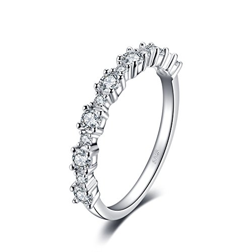 JewelryPalace 925 Sterling Silber Zirkonia Band Ring