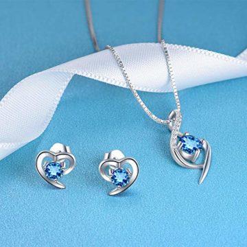 Silberschmuck-Set, bestehend aus Ohrsteckern oder Ohrhängern und einem Collier, Silberkette mit Anhänger