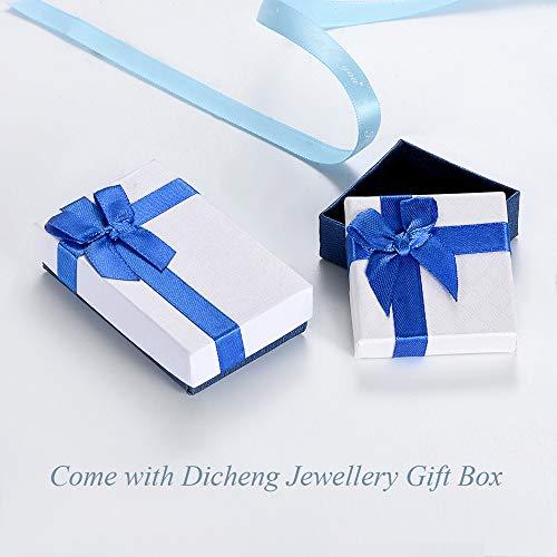 Halskette für Damen, 925 Sterling Silber 45cm Kette & Herz Anhänger, mit AAAAA Weiß Zirkonia, Liebe Geschenk für Mutter Frau Freundin, Kommt in Schmuck Box